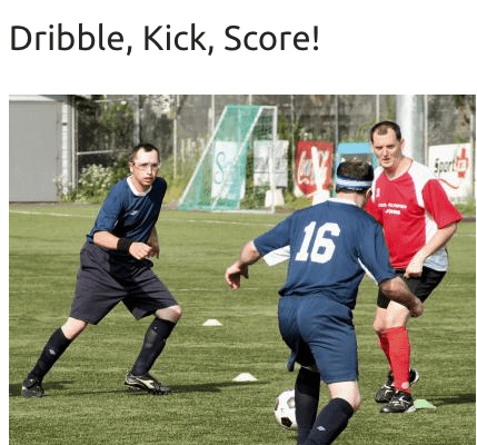 Soccer Special Olympics Summer Games inspired by the World Cup 2018