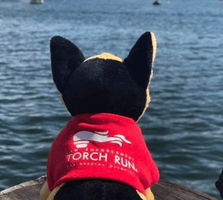 Our LETR Flame of Hope Torch Run Dog